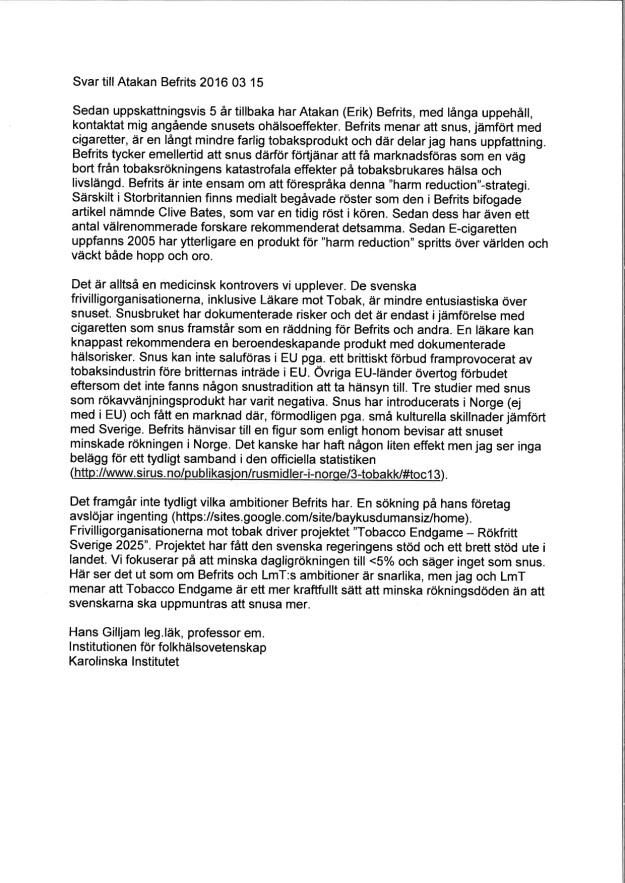 JPG Brev till Atakan Befrits 2016 03 15 kopia